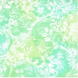 Hawaiian Prints - Green/Teal Floral Print - by AE Nathan