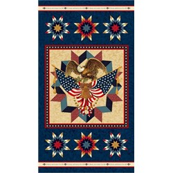 "American Valor 24"" x 42"" Eagle Panel by Faye Burgos for Marcus Brothers"