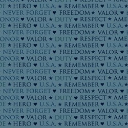 American Valor Patriotic Words by Faye Burgos for Marcus Brothers