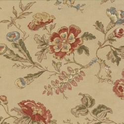 Antique Fair - Large Floral on Tan