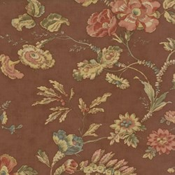 Antique Fair - Large Floral on Brown  Fat Quarter