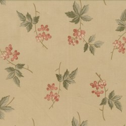 Antique Fair - Floral Sprig on Tan - by Blackbird Designs for Moda