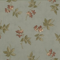 Antique Fair - Floral Sprig on Blue - by Blackbird Designs for Moda