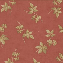 Antique Fair - Floral Sprig on Red - by Blackbird Designs for Moda