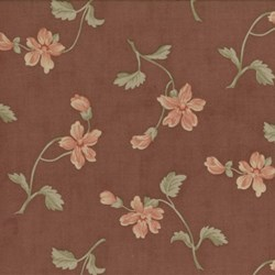 Antique Fair - Floral Toss on Brown - by Blackbird Designs for Moda