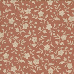 Antique Fair - Small Floral Vines on Soft Red - by Blackbird Designs for Moda