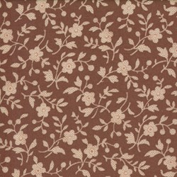 Antique Fair - Small Floral Vines on Brown - by Blackbird Designs for Moda