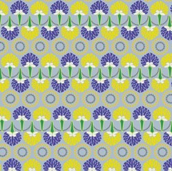 "19"" Remnant- Color Splash Geometric - Yellow & Purple Leaves"