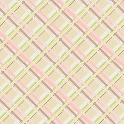Coquette - Plaid Passion Beige - by Patricia Bravo for Art Gallery Quilts