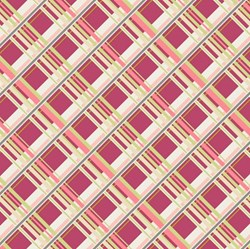 Coquette - Plaid Passion Cherry - by Patricia Bravo for Art Gallery Quilts