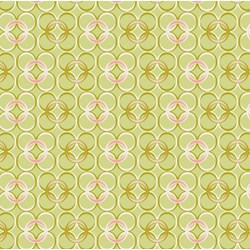 Coquette - Mod Rings Green - by Patricia Bravo for Art Gallery Quilts