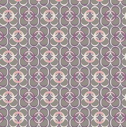 Coquette - Mod Rings Slate  Fat Quarter
