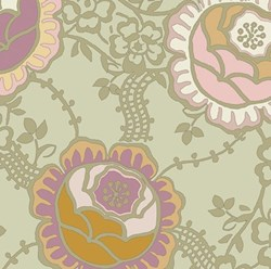 Dashing Roses - Willow Green Floral