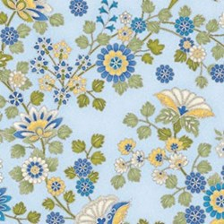 Arabella - Ornamental Floral Blue - by Benartex