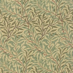 Best of Morris - Green Vines and Leaves - by Barbara Brackman for MODA