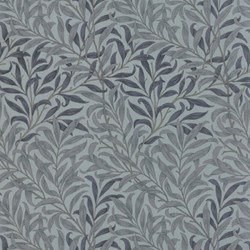 Best of Morris - Blue Vines and Leaves - by Barbara Brackman for MODA