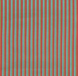 Fat Quarter Gypsy Rose - Turquoise & Orange Stripe  Fat Quarter