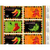 Caliente Peppers- Placemat Pattern by Tara Reed for Wilmington Prints