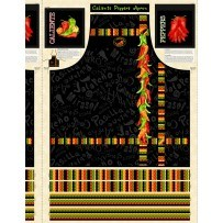 Caliente Peppers- Apron Panel Print by Tara Reed for Wilmington Prints