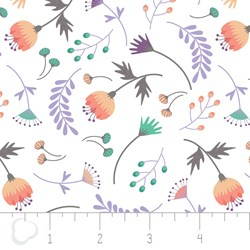 "17"" Remnant - Make a Wish by Camelot Fabrics-On the breeze in White"