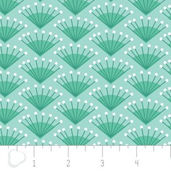 "11"" Remnant - Make a Wish by Camelot Fabrics-Rosette in Spearmint"