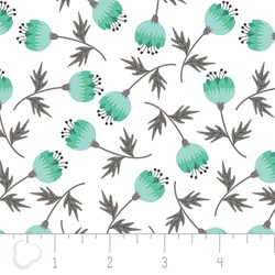 "17"" Remnant - Make a Wish by Camelot Fabrics-Blossom in White"