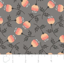 "12"" Remnant - Make a Wish by Camelot Fabrics-Blossom in Gray"