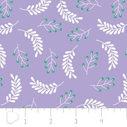 "12"" Remnant - Make a Wish by Camelot Fabrics-Leaves in Lilac"