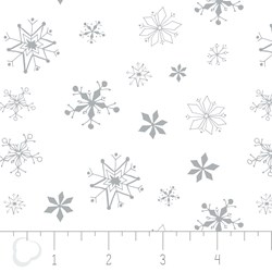 Winter Wonderland by Camelot Fabrics-Snowflakes on White