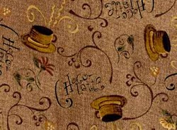 Choco-Latte Folk Art Quilting Fabric ~ by Whimsicals Quilts ~ Terri Degenkolb for Red Rooster Fabrics