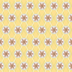 Cottage Charm - Yellow Daisy Grid - by Jacquelynne Steves of The Art of Home for Henry Glass
