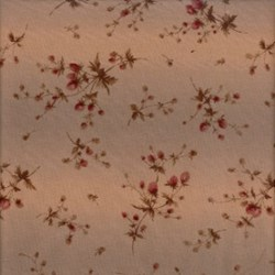 Pireued Fat Quarter - Red Floral on Mauve - Daiwabo Taupes