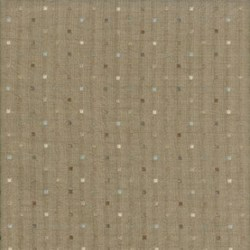 Pireued Fat Quarter - Brown Dot Woven - Daiwabo Taupes