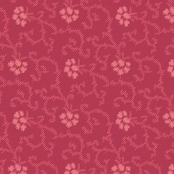 "23"" Remnant- English Diary - Tonal Red Floral- by Renee Nanneman for Andover Fabrics"