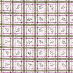 Flourish - Green & Pink Plaid