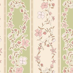 Flowers for Emma Stripes Quilting Fabric ~ by Ann Sutton for Henry Glass & Co Fabrics