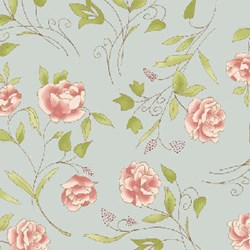 Flowers for Emma Floral Quilting Fabric ~ by Ann Sutton for Henry Glass & Co Fabrics
