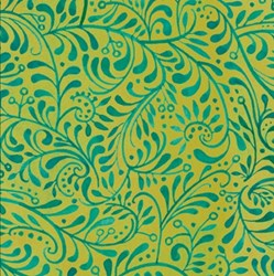 Four Seasons - Autumn - Blue/Green Whimsical Vines - by Julie Paschkis for In The Beginning Fabrics