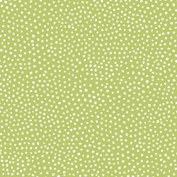 Four Seasons - Winter - Green with White Dots - by Julie Paschkis for In The Beginning Fabrics