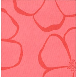 "Olive Rose - 16"" Remnant -Pink Florals Quilting Fabric ~  Free Spirit Fabric"