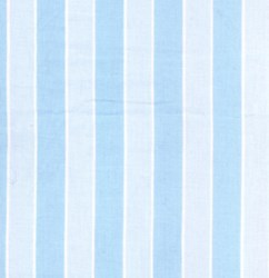 "10"" Remnant Piece Picnic Parade Quilt Fabric - Blue Stripe"