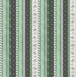 Frosted Holiday - Holiday Stripes in Green - <br>by Katie Doucette for Wilmington Prints