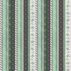 Frosted Holiday - Holiday Stripes in Green - by Katie Doucette for Wilmington Prints