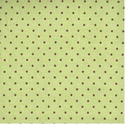 Apple Blossom Acres Brown Dot on Green by Henry Glass Fabrics