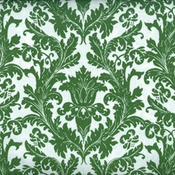 "9"" Remnant- Holly Jolly - Damask in Green and White - by Jen Allyson of My Mind's Eye for Riley Blake Fabrics"