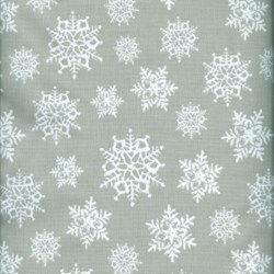 Holly Jolly - Snowflakes on Gray - by Jen Allyson of My Mind's Eye for Riley Blake Fabrics