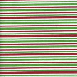 Holly Jolly - Green Stripes - Fat Quarter - by Jen Allyson of My Mind's Eye for Riley Blake Fabrics