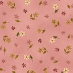 "28"" Remnant  - Small Flowers on Pink"
