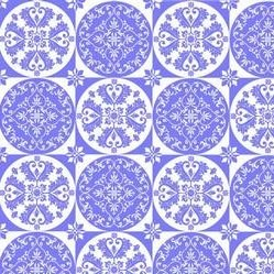 Isabella - Blue Floral Circle Grid - by Lila Tueller Designs for Riley Blake Designs