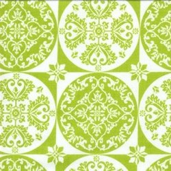 "8"" Remnant Piece Isabella - Green Floral Circle Grid - by Lila Tueller Designs for Riley Blake Designs"